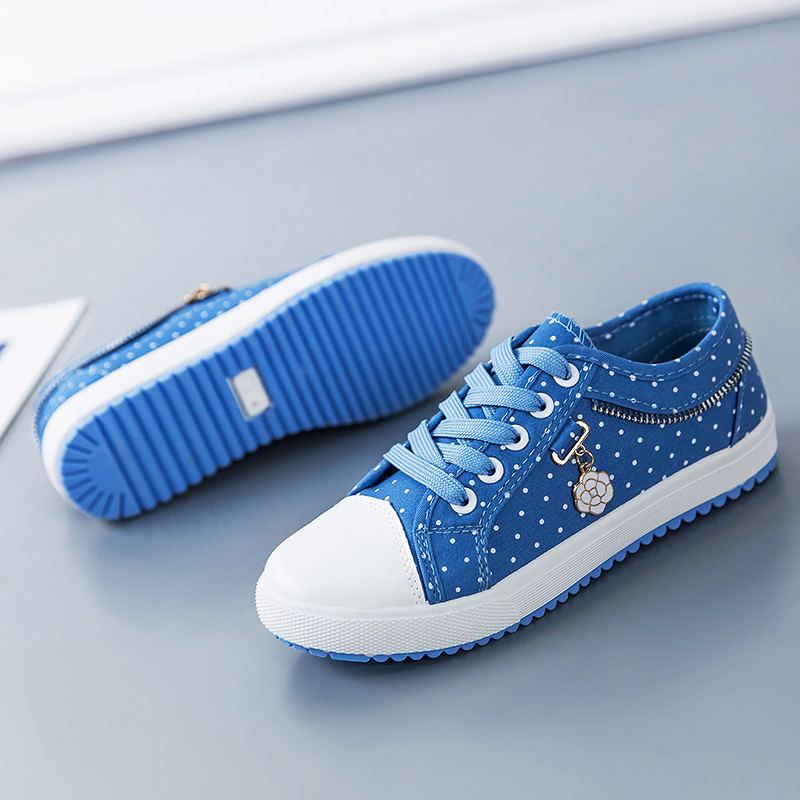 Women shoes sneakers 2018 new breathable polka dot female canvas shoes woman Plus Size ladies shoes tenis feminino декоратор lekue декомакс большой 6 насадок салатовый