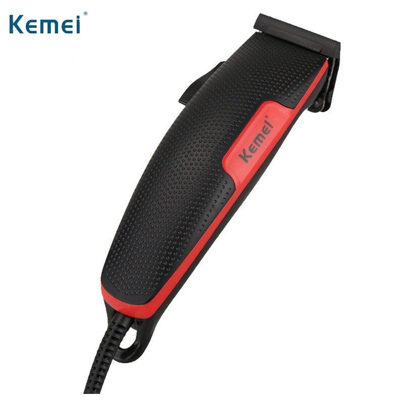 Kemei EU Plug Pria Gunting Rambut Listrik Pemangkas Rambut Profesional Mesin  Pemotong Rambut Hair Clipper Cutter e674e38338