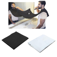 1pcs Male Beard Apron Shaving Scarf Cloth Clean Catcher Bathroom Black White Trimmer Hair Waterproof Protect barba masculina