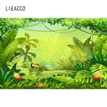 Laeacco Summer Green Tropical Palm Tree Jungle Baby Portrait Photography Background Vinyl Photographic Backdrop For Photo Studio