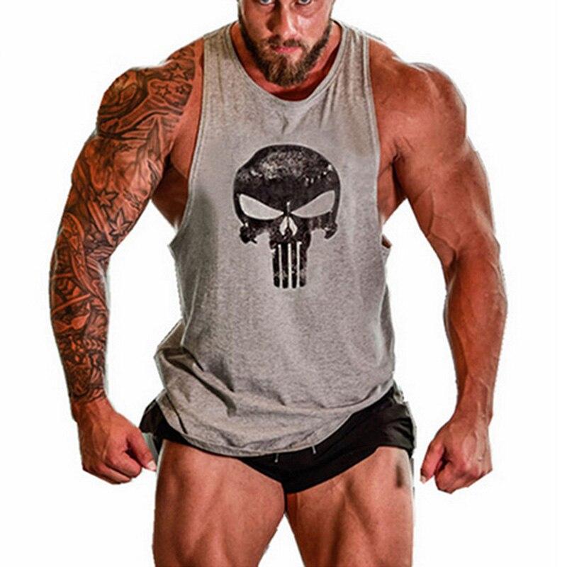 Men Sleeveless Gym Singlet Bodybuilding Fitness Tank Top Vest For Summer AIC88
