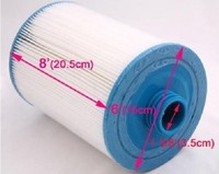 Spa Filter Element Unicel 6CH 940 Pleatco PWW50 205mmx150mm With38mm Hole Hot Tub Filter Cartridge System