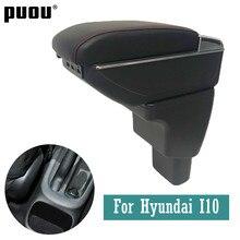 Descanso para braço automotivo, para hyundai i10, centro rotativo, console, caixa de armazenamento com interface usb, acessórios de decoração