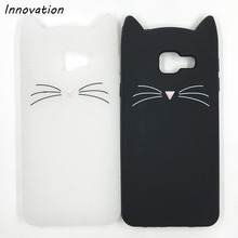 Innovation Glitter Cover For Samsung A5 2017 A520 A520F Case Cute 3D Mustache Beard Cat Ears Soft Silicone Phone Back Cases