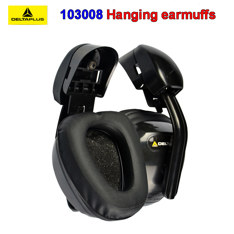 DELTA PLUS 103008 Hanging Earmuffs Profession Anti-noise Earmuffs ABS Shell Memory Foam Cotton Safety Helmet Earmuffs