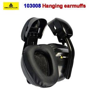Image 1 - DELTA PLUS 103008 Hanging earmuffs profession Anti noise earmuffs ABS shell Memory foam cotton Safety helmet earmuffs