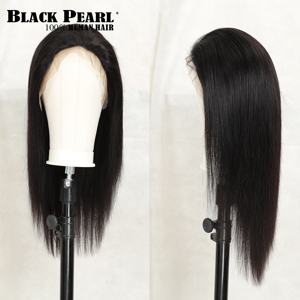 Black pearl 13x4 Lace Front Human Hair Wigs pre plucked Brazilian Straight Lace Front Wigs For Black Women