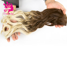 50cm 5 Clip In Hair Extension Heat Resistant Fake Hairpieces Long Wavy Hairstyles Synthetic Clip In On Hair Extensions(China)
