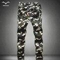 Nueva Caliente 2016 Primavera hombre Otoño Sueltan Los Pantalones Cómodos de Los Hombres de Camuflaje Militar Pantalones Cargo Camo Joggers pantalones casuales