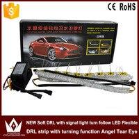 Tcart turnlight ile Evrensel DRL LED Işık ABS Gündüz Farları otomatik Araç Sis Işık İyi Yerleşimi Günü DRL dönüş ışığı ile