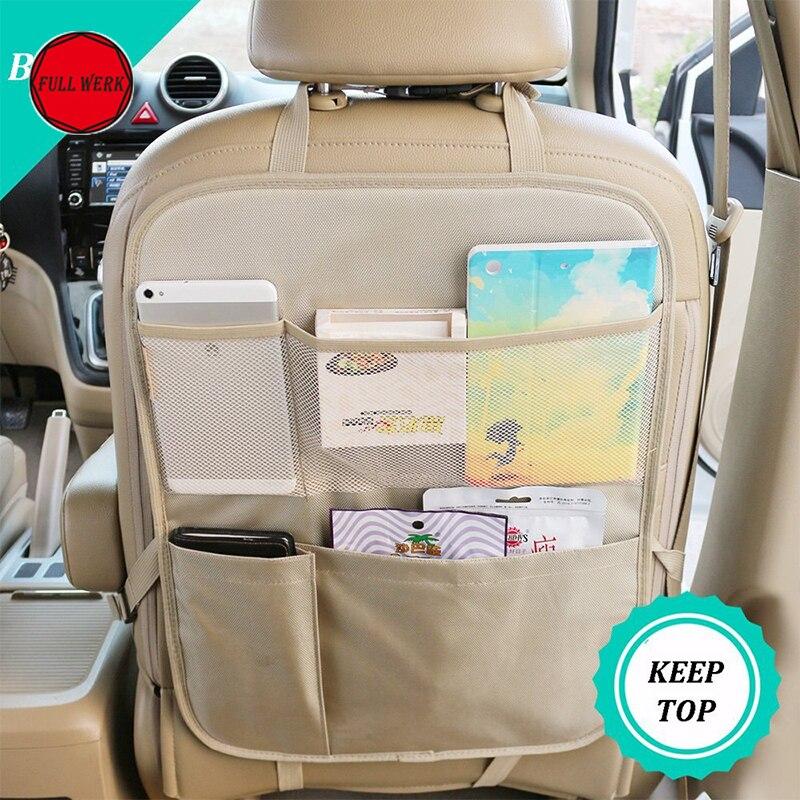 1pc Portable Car Back Seat Organizer Multi Pocket Oxford Traveling