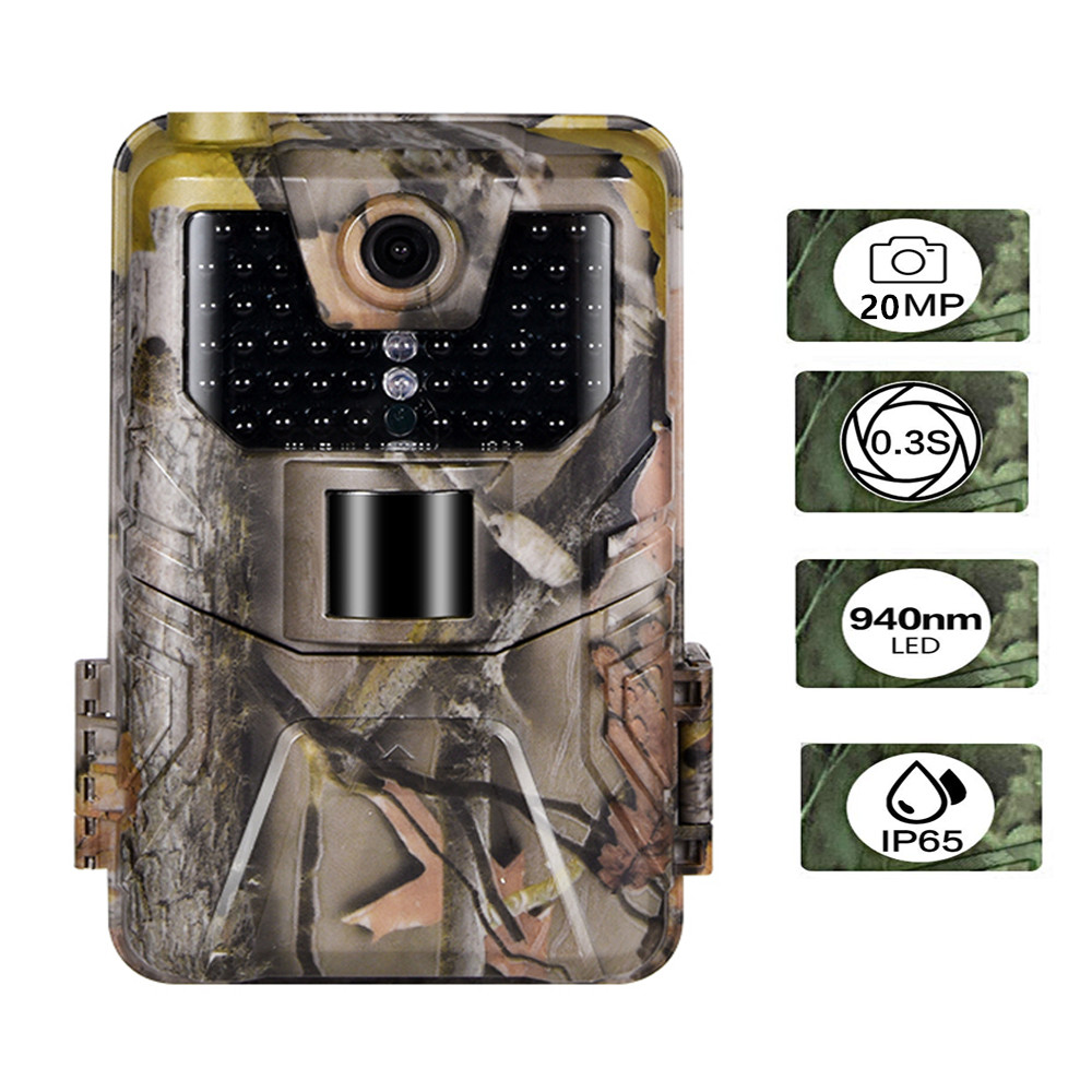 20MP 1080P Trail Camera 940NM Invisible Infrared Hunting Cameras Wireless Cam HC900A Night Vision Wildlife Surveillance20MP 1080P Trail Camera 940NM Invisible Infrared Hunting Cameras Wireless Cam HC900A Night Vision Wildlife Surveillance