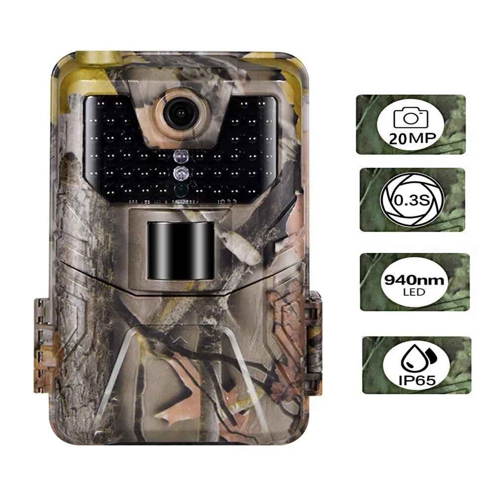 Камера наблюдения за дикой природой, 20 МП, 1080P, 940NM, невидимая инфракрасная камера для охоты, беспроводная камера HC900A с ночным видением