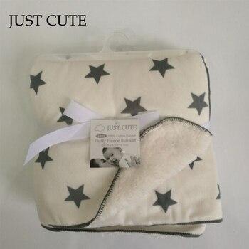 JUST CUTE Cartoon Baby blankets thicken double layer fleece infant envelope stroller wrap for newborn baby bedding blanket