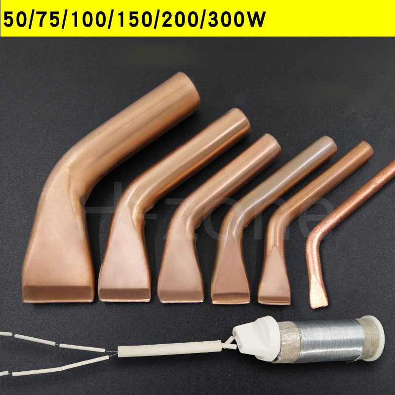External Heat Wooden Handle Solder Iron Tip Lead-free Environmentally Pure Copper 50/75/100/150/200/300W Heater