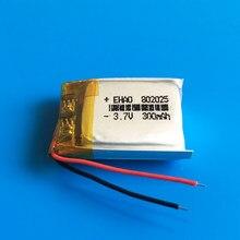 802025 3.7V 300mAh polymère lithium Lipo batterie rechargeable cellules puissance personnalisée CE FCC ROHS MSDS pour caméra MP3