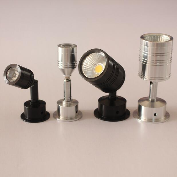 1W 3W 5W LED spotlight, 360 degrees angle adjustable led lamp, cabinet counter showcase decorated, AC85-265V