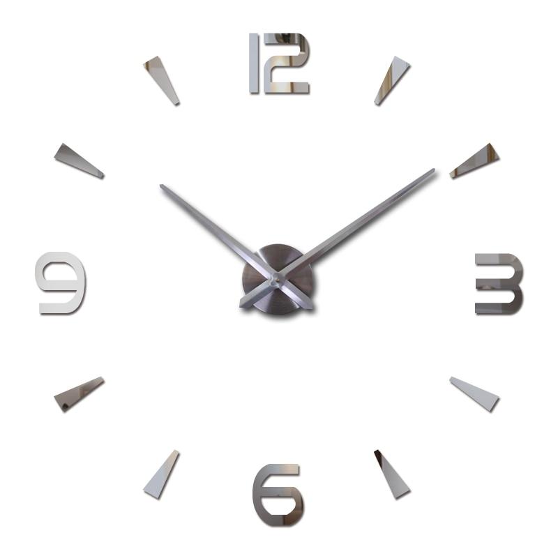 New Wall Clock Quartz Living Room Diy Clocks Modern Design Watch Horloge Murale Acrylic Mirror 3d Stickers
