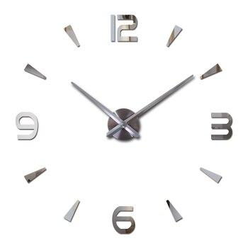 Nieuwe wandklok quartz woonkamer diy klokken modern design horloge horloge murale Acryl spiegel 3d stickers