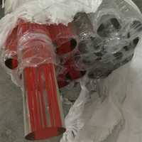 Acrylic Clear Rods Home Improvement D38x1000mm With Red Line Inside PMMA Plastic Rod Can Be Used