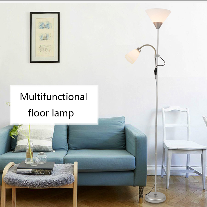 American Style modern iron painted floor Lamps adjustable E27 LED 220V novelty floor lights for living room study bedside office