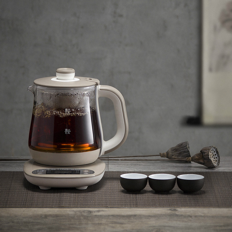 Full automatic  thickened glass steamed tea pot pot/electric kettle Anti-dry Protection wholesale tea cans of yixing yixing tea pot pot full catty installed bright glaze mixed batch