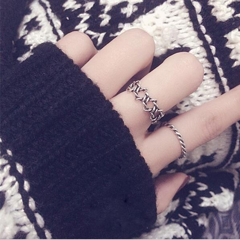Free shipping! 925 Sterling Silver For Women Thai Silver Ring Feather Vintage Punk Fashion Retro Antique Accessories nice gift