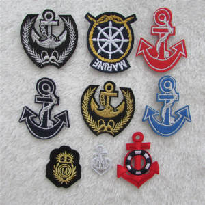 Applique Embroidery Patches Anchor Boat Clothing-Accessory 1pcs Sell C145-C409 Adhesive