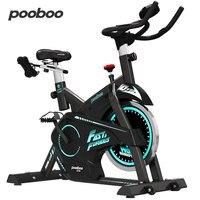 Pooboo Indoor Heimtrainer 28.66lbs Schwungrad Mute Startseite Workout Stationären Fahrrad Mit Hantel Rack-in Heimtrainer aus Sport und Unterhaltung bei