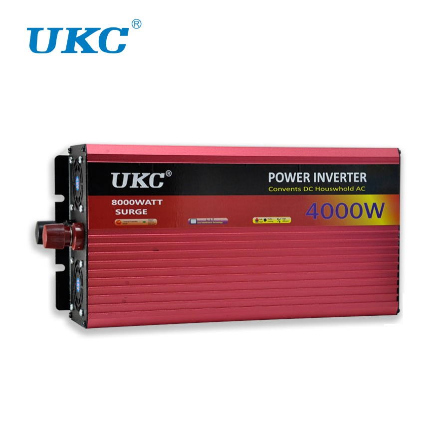 UKC 2000W 3000W 4000W Car Power Inverter Voltage Converter With Cigarette Lighter DC 12V AC 220V