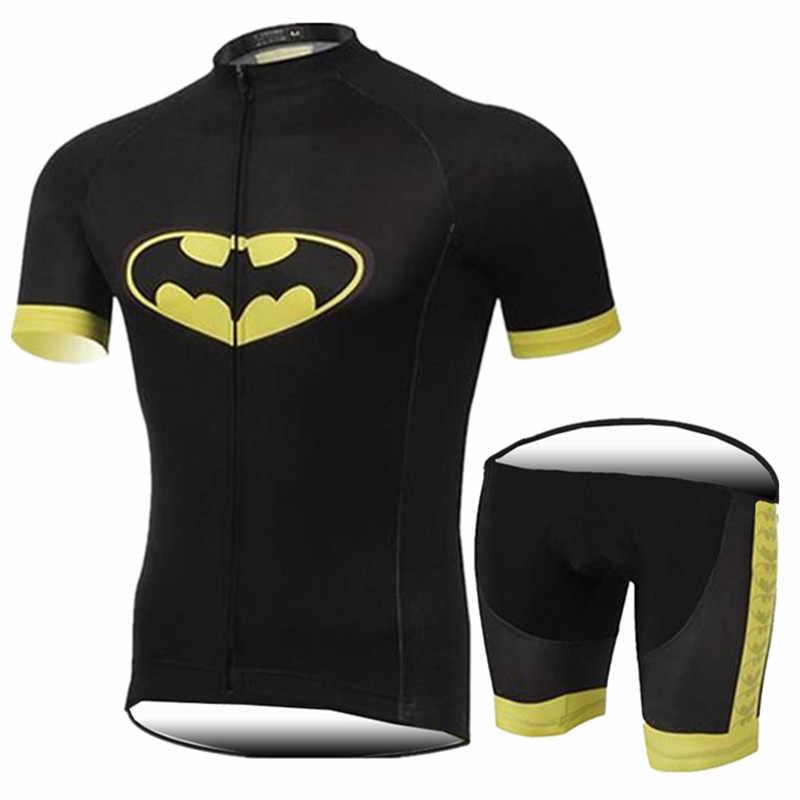 cycling clothing men s sets summer 2018 triathlon Batman Breathable Cycling  Jersey set Siamese Cycling Clothes  0ecaef246