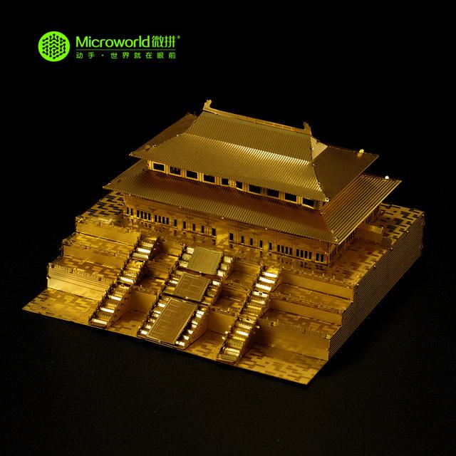 Microworld 3D Rompecabezas De Metal China Ciudad Prohibida J004-G DIY Corte Láser 3D Ensamblar Juguetes de Construcción Modelo de Arquitectura De Auditoría