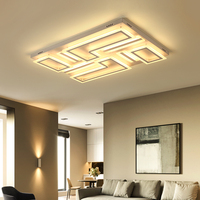 New Arrival Surface Mounted Modern Led Ceiling Chandelier Lamparas De Techo Rectangle Acrylic Square Ceiling Chandelier