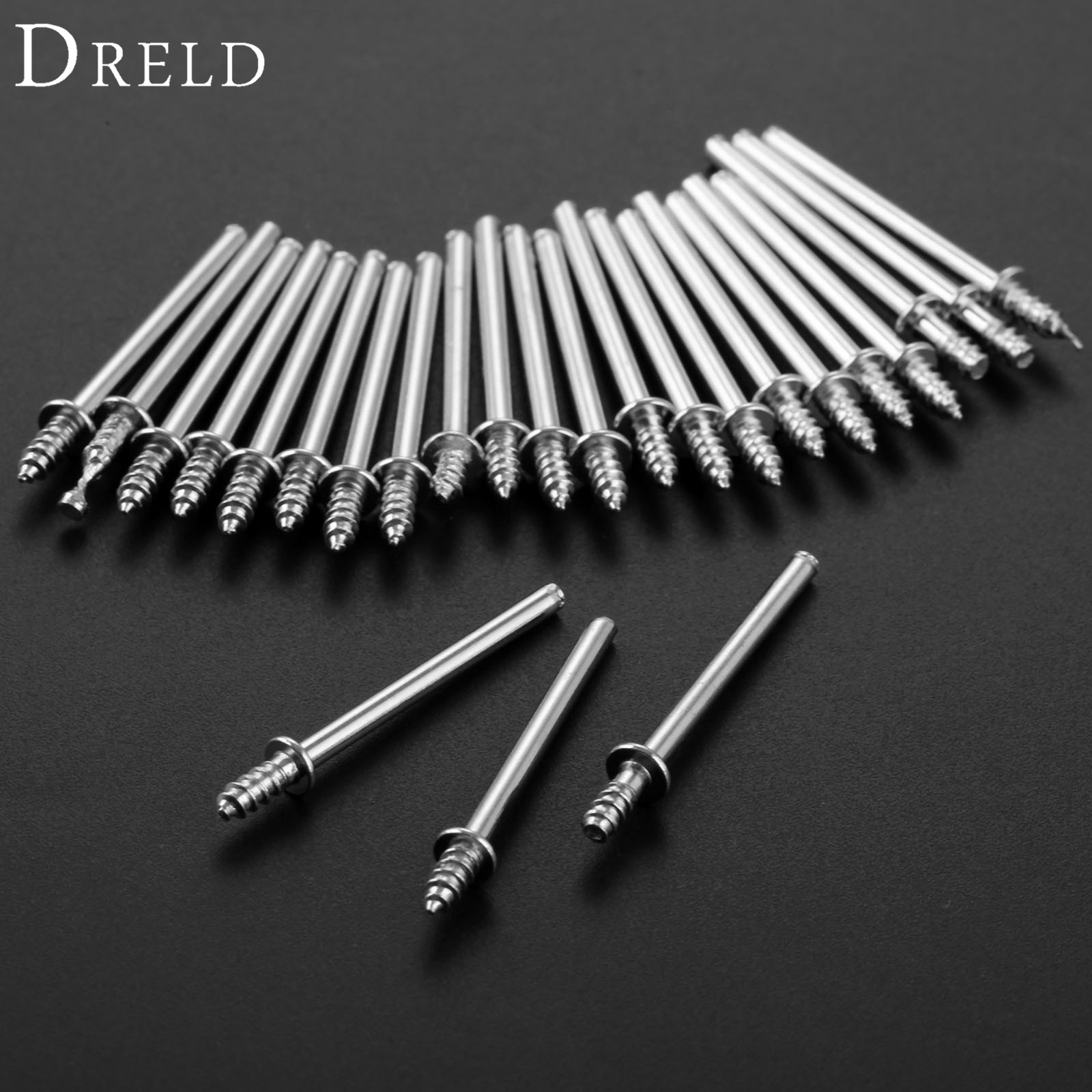DRELD 25Pcs Dremel Accessories 2.35mm Shank Polishing Wheel Mandrels Cutting Cut-off Wheel Holder For Rotary Tools Connection