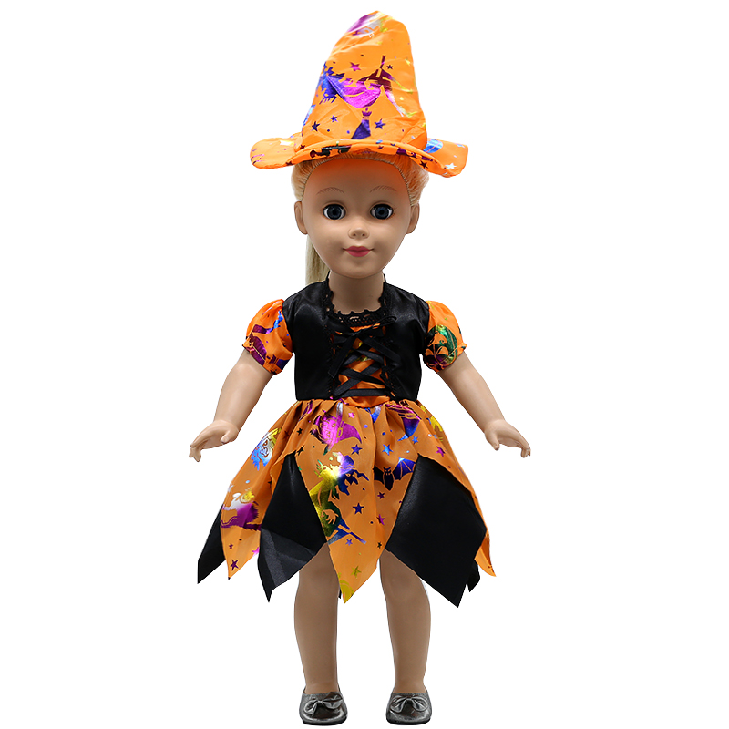 American Girl Doll Clothes Halloween Witch Dress Cosplay Costume For 16-18 inches Doll Alexander Dress Doll Accessories X-68 american girl doll clothes halloween witch dress cosplay costume for 16 18 inches doll alexander dress doll accessories x 68