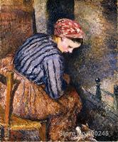 Online Art Gallery Camille Pissarro Handmade oil paintings Peasant Woman Warming Herself High quality
