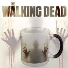 Walking Dead tassen Zombie Becher Kaffee Becher Zauberbecher Wärmeempfindlichen Teetassen Keramik Tasse Geschenk