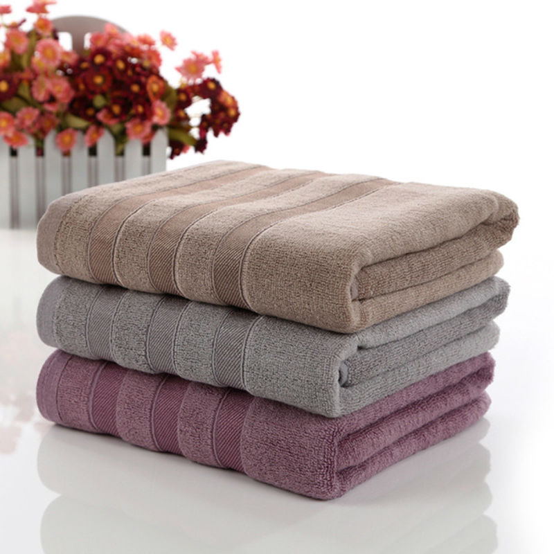 Simanfei 2017 New Solid Cotton Bath Towel High Quality 70cm 140cm Soft Brief Brand Towels Toalla