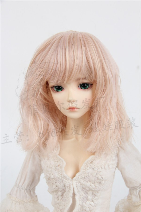 luodoll 	FIBER bjd doll sd wig 1/3 of the 1/4 instant noodles short hair high - temperature silk baby giant wig 1 3 1 4 1 6 1 8 1 12 bjd wigs fashion light gray fur wig bjd sd short wig for diy dollfie