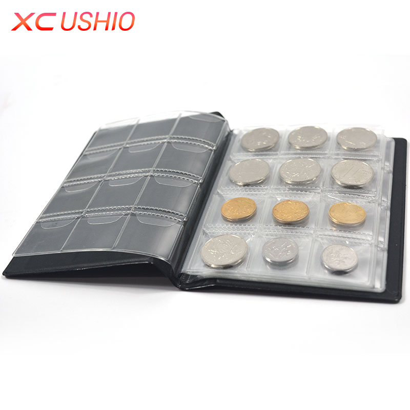 Coin Collection Book Opening Stock 120 Coins Pocket Money Penny Storage Bag Collection Album Collect Coin Album Coin Holder ...