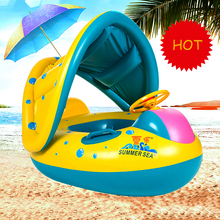 Baby Inflatable Swimming Ring Kids Summer Swimming Pool Swan Swim Float Water Fun Pool Toys Swim Ring Seat Boat Sport for 3-6Y 2019 summer new baby kids swimming ring inflatable swim ring seat boat float with sunshade cute cartoon tortoise shape