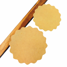 100pcs/lot NEW 2 Sizes For Choose 5 Cm Blank Cowhide Wavy Lace Seal Sticker Simple Stationery Labels
