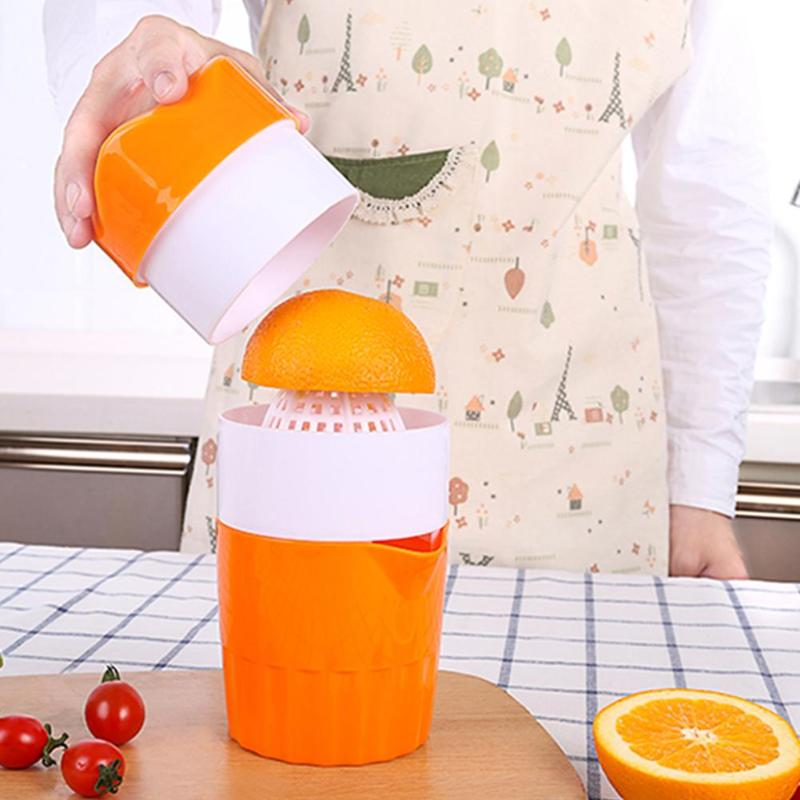 Portable 300ml Manual Lemon Juicer 100% Orange Citrus Squeezer Fruit Coffee Cup Large Capacity Teacup Kitchen Accessories
