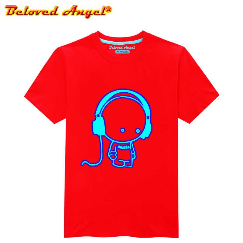 זוהר ילדים T חולצה סופר גיבור לוגו ילדי חולצה זוהר בחושך בני נוער Tshirt פעוטות בני בנות חולצות טיז תינוק בגדים