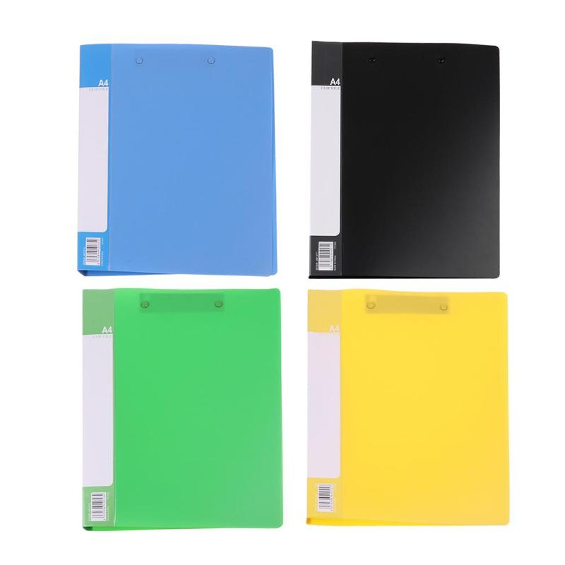 ALLOYSEED Business A4 Single Clip File Folders Document Holder Office School Supplies