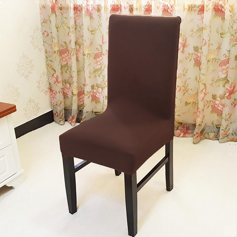 style solid color jacquard polyester spandex dining font chair covers table cushion