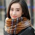 O colarinho de lã feminino Coreano inverno kraepelini moda outono colarinho senhora gola inverno quente lenço feito malha