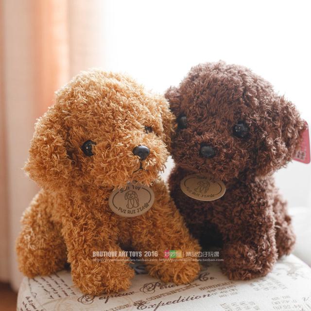 Bezpłatna symulacja wysyłki Teddy Dog Lady, Pudel pluszowe zabawki, zwierzę suffed lalka na Boże Narodzenie prezent