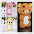 Rilakkuma Phone Case For iPhone 5S Case 3D Cute Brown Bear Cover For iPhone 5 5S SE 4 4S 5C Silicone Cases Funda Coque Para