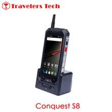 Originales Conquista S8 4G LTE 3 GB RAM 32 GB ROM 64bit IP68 a prueba de agua Walkie Talkie teléfono Inteligente NFC 5 Pulgadas 6000 mAh S6 Teléfono Móvil X6